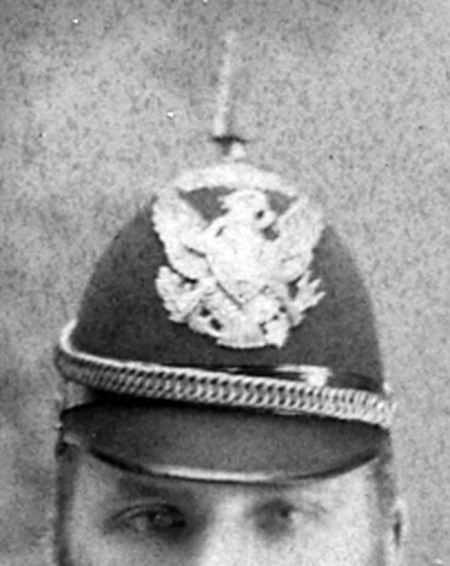 Detail of American  pikelhaube